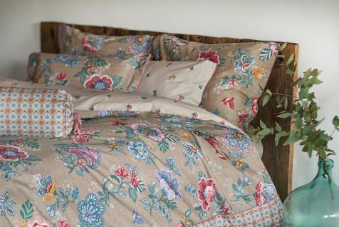 Bettwäsche 155x220+80x80 cm von Pip-Studio Berry Bird Farbe Khaki