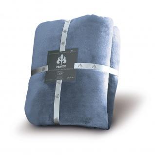 Kuscheldecke Uni 150x200 in Farbe Jeans 23 Decke Castel 8900 von Irisette