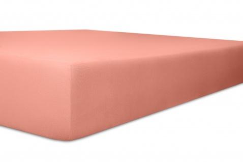 Spannbetttuch Organic-Cotton, altrosa 180x200x30 bis 200x220x30 cm GOTS zertifiziert von Kneer