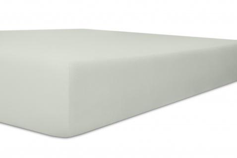 Spannbetttuch Organic-Cotton, platin 140x200x30 bis 160x220x30 cm GOTS zertifiziert von Kneer
