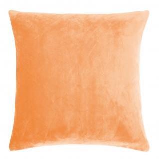 Kissenhülle Uni 50x50 cm Kuschelkissen in der Farbe apricot von Living Dreams - Vorschau 1