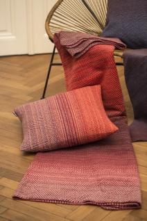 Wohn und Kuscheldecke Savona Farbverlauf terracotta 150x200 von David Fussenegger