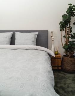 Bettwäsche Mato 155x220 70% Baumwolle 30% Leinen Garnitur von Kayori mit Reißverschluss