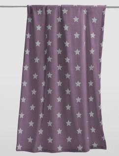 Kuscheldecke Uni 150x200 mit Sterne von Irisette