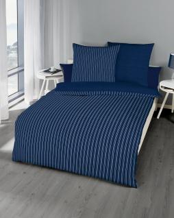 Satin Bettwäsche 155x220 cm Farbe Marine Garnitur 326/611 von Kaeppel Essential Eternity Combo 100% Baumwolle