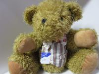 Teddybär, groß mit Weste ca. 35 cm