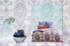 Bettwäsche 155x220 cm Layla, multicolor von KAS mit Keder, Mako-Satin-Bettwäsche Garnitur