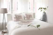 Bettwäsche 155x220 Peony 700415 von Walra 100 % Baumwolle Garnitur mit Kissen Hochzeitsbettwäsche