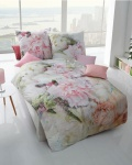 Bettwäsche Ease of Summer 155x220+80x80 cm Design 862/645 Rosen-Digitaldruck Mako-Satin von Kaeppel