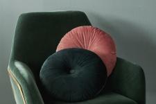 Kissen Naina Cushion von Essenza in der Farbe Green, Größe 40cm