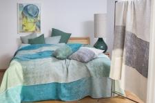 Überwurf / Tagesdecke Silvretta 240x220 cm in der Farbe Glasgrün von David Fussenegger