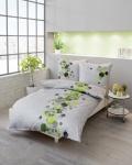 Bettwäsche 135x200 cm Mako-Satin Sweet Home, 710/603 Grün von Kaeppel
