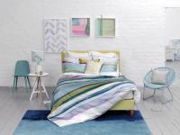 Bettwäsche 155x220 von Bluebellgray Lomond Einzelstück 100 % Baumwolle Satin Garnitur inkl. 1 Kissen 80x80