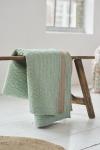 Tagesdecke Leaves Quilt von PIP Studio in der Farbe Mint/Braungrau, Größe 220x265cm