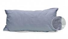 Kissenbezug 40x80 cm, Design: Stone Washed, Farbe: Denim, 100% natürliche Baumwolle von Hahn Haustextilien