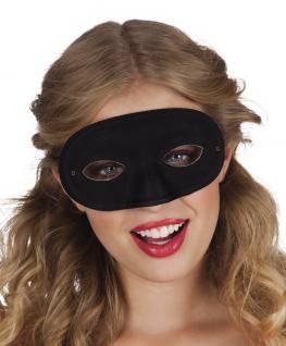 Dominomaske schwarz Maske Domino Carnevale Venzia Maske