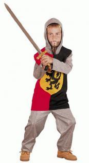 Ritter Kostüm mit Kapuze für Kinder Karneval