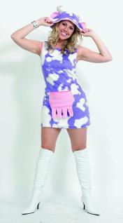 Kostüm Kuh Kuhkostüm lila-weiß