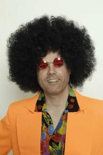 Perücke großer Afro schwarz Afroperücke Hippie
