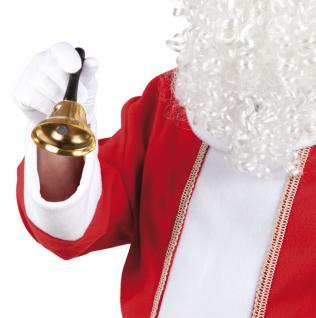 Glocke Nikolaus Metall mit Holzgriff SONDERPREIS Nikolausglocke Glocke Weihnachtsmann Santa Claus Klingel Nikolaus Weihnachtsmannglocke Christkind Glocke Christkindglocke