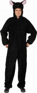 Kostüm schwarzes Schaf Overall Schaf schwarz Schafkostüm