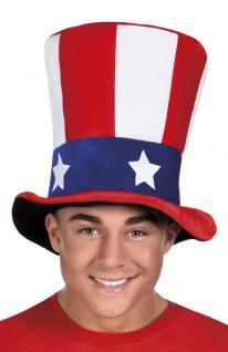 Zylinder USA Zylinder Uncle Sam Hut Uncle Sam Hut America Hut Amerika Zyliner Amerika Zylinder USA Flagge Zylinder USA Hut USA Hut Stars and Stripes SONDERPREIS