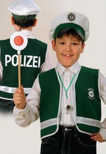 Polizeiweste SONDERPREIS Polizeikostüm Kinder Polizeikostüm Kostüm Polizist für Kinder Polizei Weste Kostüm
