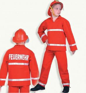 Feuerwehrmann 2-tlg. Karneval Kostüm Feuerwehr
