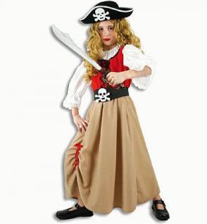 Kostüm Piratenmädchen Piratin Pirat Kostüm Freibeuter Freibeuterin