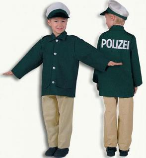 Polizist mit Hut Polizeikostüm Kostüm Polizei Kinder
