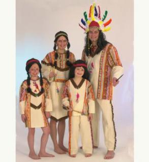 """Indianer """"Red Fire"""" 2-tlg. Kostüm Indianerkostüm Kostüm Indianer - Vorschau 1"""