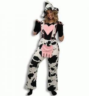 Kuhhose mit Herz Hose Kuh Kostüm Kuhkostüm Kostüm Kuh