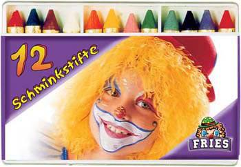 12 Schminkstifte Schminke Karneval Halloween - Vorschau