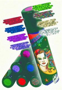 Haarspray Color Farbhaarspray Glitzer Hair - Glitter - Spray 8 Farben Haarspray Farbe