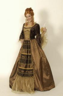 Kleid Renaissance Rokoko Kostüm Barock Hofdame Königin - Vorschau 1