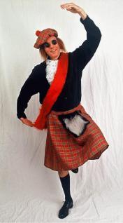Schottenrock für Herren Kilt Schottenkilt Schotte Kostüm Schottenkostüm Highlander Kostüm Highländer - Vorschau