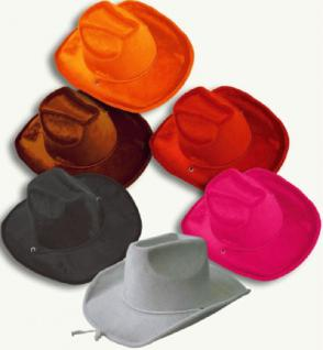 Samt Cowboyhut 6 Farben - Vorschau 1