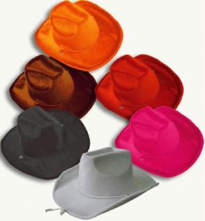 Samt Cowboyhut 6 Farben
