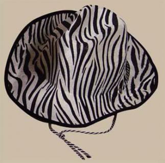 Cowboyhut Zebra Zebrahut Hut Zebra Fasnet Karneval Fasching - Vorschau