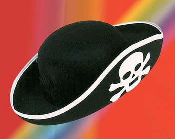 Piratenhut mit Totenkopf für Kinder Hut Pirat Kapitän