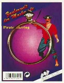 Piratenohrring Pirat Piratin Ohrring Ring Kapitän