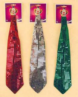 Pailetten - Krawatte 4 Farben