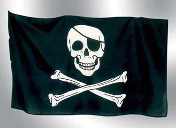Piratenflagge mit Knochen groß Fahne Pirat Flagge