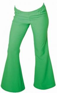 Schlaghose grün SONDERPREIS Hose Flowerpower Hose Hippie Hippiekoste Kostüm Hippie Disco - Vorschau