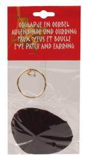 Ohrring und Augenklappe Pirat für Piraten Piratenkostüm SONDERPREIS