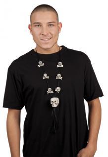 Kette Totenkopf Knochen Bones Totenkopfkette - Vorschau