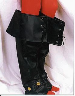 Luxus-Stiefelstulpen schwarz