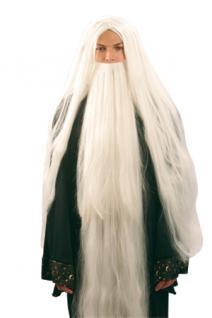 Perücke Wizard mit Bart Zauberer Magier Druide Zaubererperücke Druidenperücke Kostüm Druide Magier - Vorschau