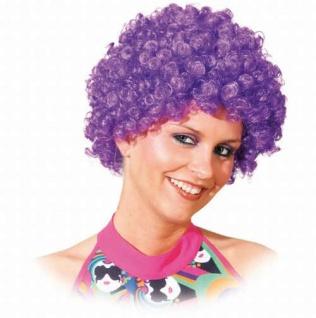 Perücke Hair lila Perücke Locken Lockenperücke lila SONDERPREIS Afroperücke Perücke Afro Clownperücke Perücke Clown