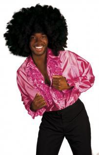Discohemd pink rosa Rüschenhemd Hemd Disco rosa 70er Hemd Rüschen Rüschenhemd Flower Power Schlagerhemd Hemd Schlager